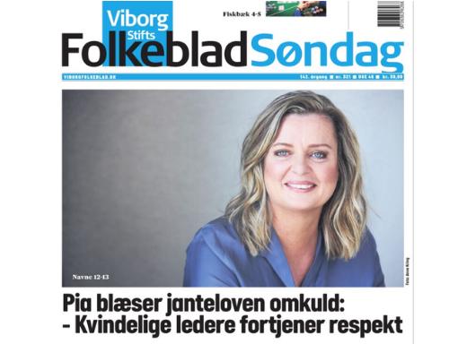 Pia Grandelag – et portræt i Viborg Folkeblad Søndag