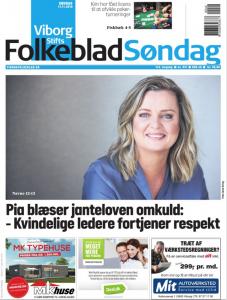 Portræt af Pia Grandelag i Viborg Stifts Folkeblad - Drop Janteloven